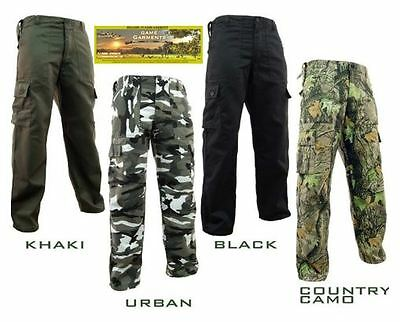 Game Country Cargo Combat Trousers, Black, Khaki, Urban and Country Camo