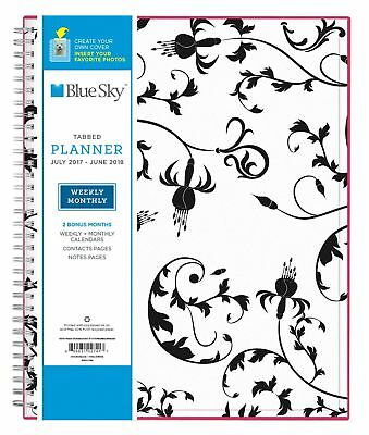"Blue Sky 2017-2018 Academic Year Weekly & Monthly Planner Wire-O Binding 8.5""..."