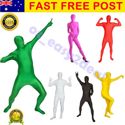 Adult Men Women Spandex Costume Full Body Suit Zentai Morph Invisible Morphsuit