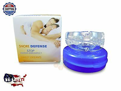 NEW Stop Snoring Mouthpiece Apnea Aid MouthGuard Sleep Bruxism Snore Guard Grind