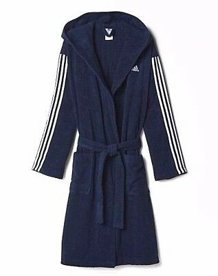 Adidas Men's Originals Swimming Bathrobe Collegiate Navy AO0064 Sizes: M - XL