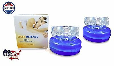 2 (TWO)  Stop Snoring Mouthpieces Apnea Aid MouthGuard Sleep Snore Guard Grind
