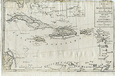 Djurberg, Daniel / Map of the West Indies 1798 RARE