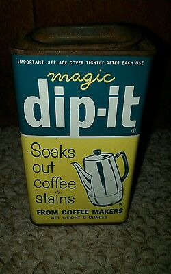 Vintage Coffee Dip It Tin Litho Can Advertising