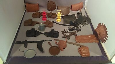 Vintage Johnny West Assorted Accessories - Lot of 21 Pcs - Must See!