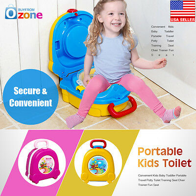 Convenient Kids Baby Toddler Portable Travel Potty Toilet Training Seat Chair