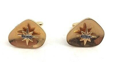 Vintage Pair of Lincoln Mercury Logo Car Salesmans Cufflinks Advertising