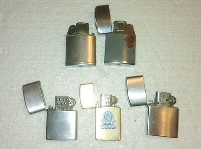 Lot Of 5 Vintage Lighters, Ronson, Teeco, Penquin, Park