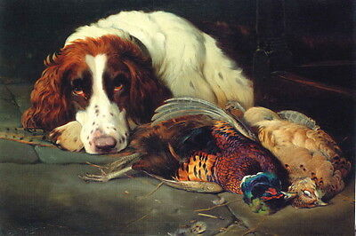1910~Beautiful English Springer Spaniel Puppy Dog & Game~NEW Large Note Cards