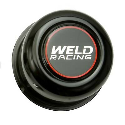 WELD P605-5073B Wheel Aluminum Center CAP 5-LUG 3.16' ODX2.20'TALL Black PUSH TH