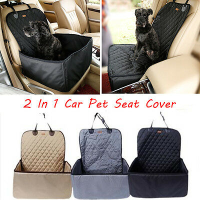 2 In 1 Waterproof Pet Cat Dog Car Front Seat Covers Safety Protection Mat Travel