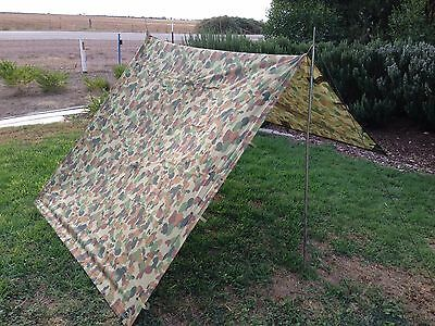 Auscam Hootchie Hoochie Tarp Military Shelter Tent Ground Cover 100% Waterproof