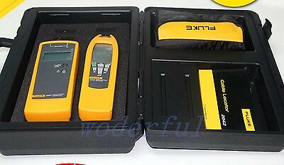 Fluke F2042 2042 Cable Locator (Transmitter + Receiver) + Leads, Probes, Case