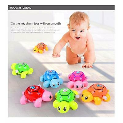 Kids Baby Developmental Educational Toy Cute Colorful Tortoise Wind-up Toys FI