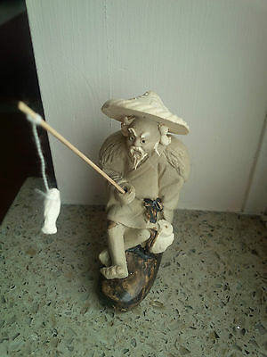 Chinese mud man bonsai figurine fisherman 2