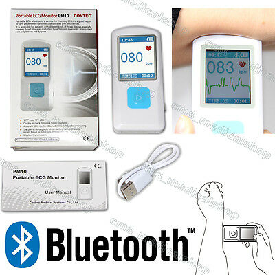 CE Portable ECG Monitor PM10 with Bluetooth, Heart Beat Monitor, HOT SALE