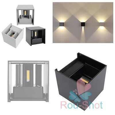 7W/12W Waterproof LED Wall Lamp Up Down Cube Outdoor Sconce Light Warm White【AU】