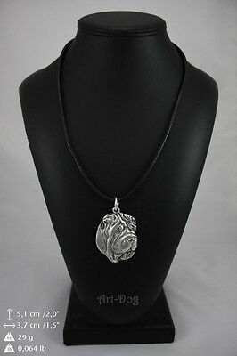 Shar Pei, silver covered necklace, high qauality Art Dog