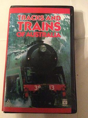 Tracks And Trains Of Australia Video Pal Vhs Clamshel A Rare Find