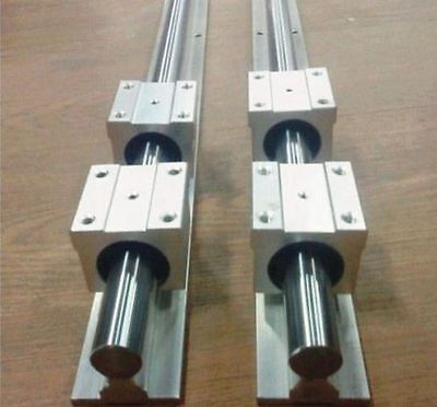 2pcs SBR20 -1100mm Linear rail rod support 4pcs SBR20UU Bearing Block Slide