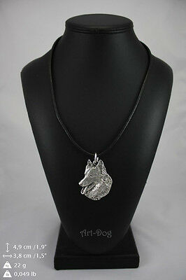 Belgian Sheepdog, silver covered necklace, high qauality Art Dog