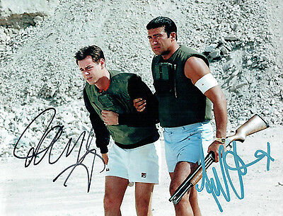 Danny DYER & Tamer HASSAN Signed Autograph 10x8 Photo COA AFTAL The BUSINESS
