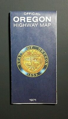 1971 OREGON State Map Official Highway Map Vintage Atlas
