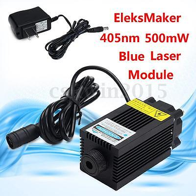 EleksMaker 405nm 500mW Blue Laser Module With Heatsink For DIY Engraver Machine