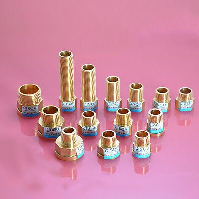 "1pc 1/2"" 3/4"" 1"" Female x Male Brass Thread Straight Adapter Connector Fitting"