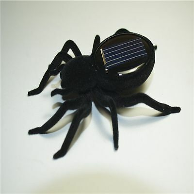 Spider Tarantula Trick Toy Educational Robot Scary and Insect Gadget Solar Power