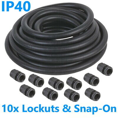 10m Flexible Spiral Conduit Tube Cable Tidy Trunking Outdoor Underground 20mm