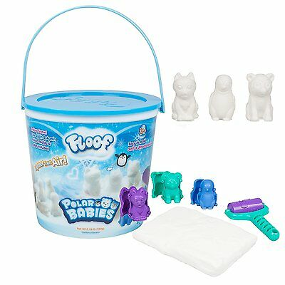 Floof Modeling Clay - Reuseable Indoor Snow - Polar Babies With 3 Molds and