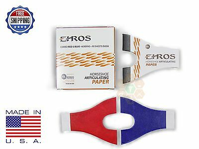 HORSESHOE ARTICULATING PAPER RED/BLUE COMBO  6 Books/12 Sheets each MADE IN USA