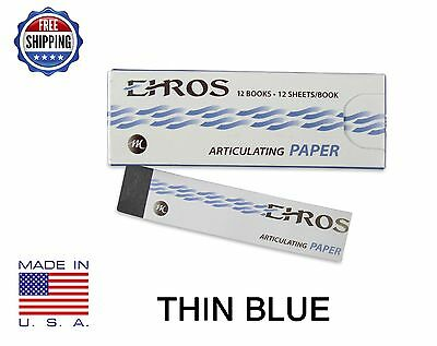 "DENTAL ARTICULATING PAPER THIN (0.003"") BLUE  144 Sheets  MADE IN USA"