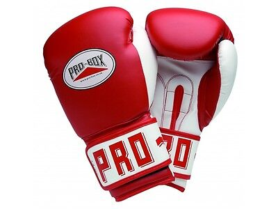 Pro-Box PU Club Essentials Red Senior Gloves Boxing Training Sparring Striking