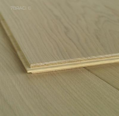 Light White Oiled Engineered Pale Oak Boards 180mm wide Flooring E15S09S natural