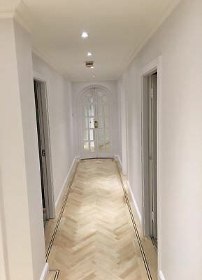 Hornbeam Parquet Herringbone Flooring Select European S20MH1 Ironwood Carpinus