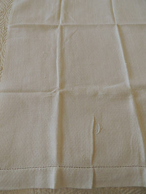 Antique Linen  Hand Guest Towel  ~J~  embroidered    very nice