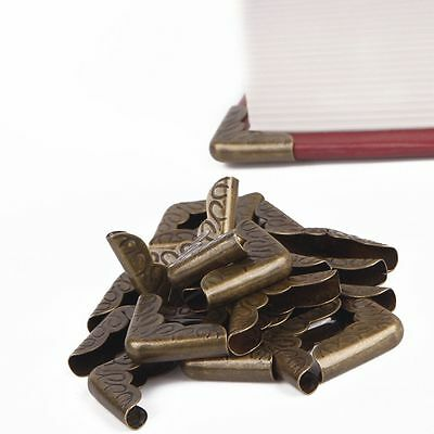 Book Notebook Collar Folders Scrapbooking Corner Protectors Antique Bronze