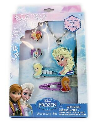 10 x PACKS OF DISNEY FROZEN JEWELLERY SETS PARTY BAG FILLERS ANNA ELSA DRESS UP