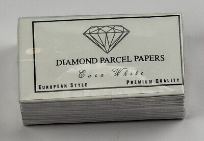 Diamond or Gem stone PARCEL PAPER pack 25 jewellers storing packing gems wrapper