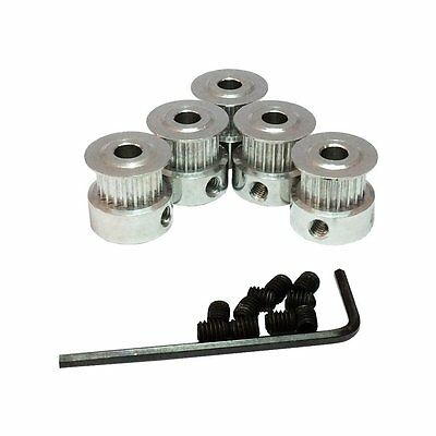 GT2 20 teeth Timing Belt Pulley Bore 5mm Aluminum Alloy for 3D Printer Parts of