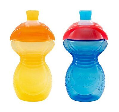 Munchkin 9oz Click Lock Soft Spout Sippy Cups Bite Proof - Blue & Yellow