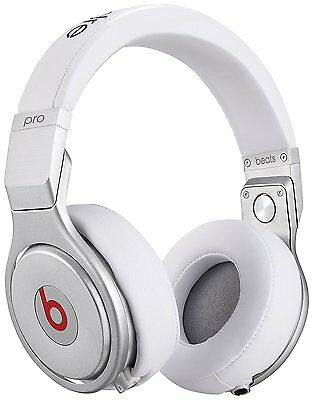 NEW Beats by Dr. Dre Pro Headphones with Remote & Mic White BeatsPro Headset UK