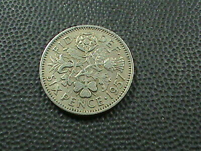 GREAT  BRITAIN    6  Pence    1957