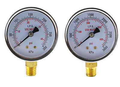 Low and High Pressure Gauges for Propane Regulator - 2.5 inches (PAIR)