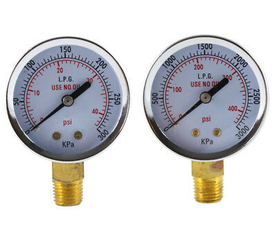 Low and High Pressure Gauges for Propane Regulator - 2 inches (PAIR)