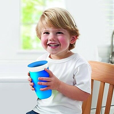 Munchkin Miracle 360 Degree Toddler Kids Sippy Cup 296 ml Non Spill Blue NEW