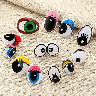 Plastic Cartoon Eyes For Kid Toy Teddy Bear Doll Puppet Making Craft & Washers