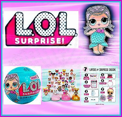 LOL Surprise Doll Mermaid Series 1--2nd Wave 7 Layers of Fun L.O.L. Dolls